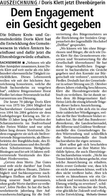 20071220_BZ_Doris_Klett_Artikel
